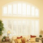 Louvered Arch Custom Window Shutters
